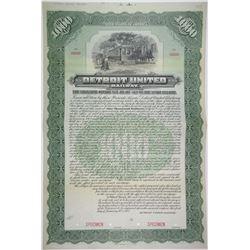 Detroit United Railway, 1902 Specimen Bond