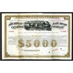Michigan Central Rail Road Co. 1890.