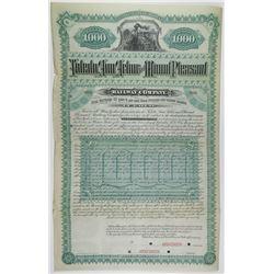 Toledo, Ann Arbor & Mount Pleasant Railway Co. 1886 Specimen Bond Rarity