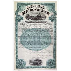 Cleveland, St. Louis & Kansas City Railway Co., 1888 Issued Bond