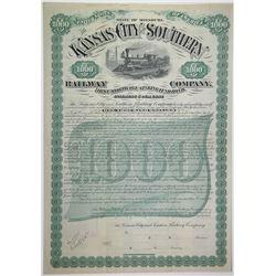 Kansas City and Southern Railway Co., 1883 Specimen Bond