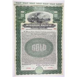Missouri Pacific Railroad Co. 1909 Specimen Bond