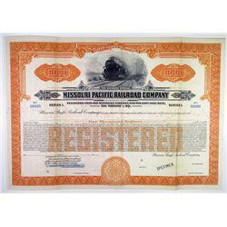 Missouri Pacific Railroad Co. 1931 Specimen Bond Rarity