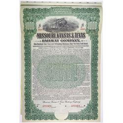 Missouri, Kansas & Texas Railway Co., 1904 Specimen Bond
