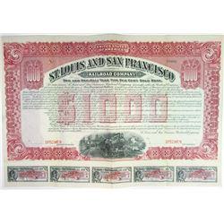 St. Louis and San Francisco Railroad Co., 1906 Specimen Bond