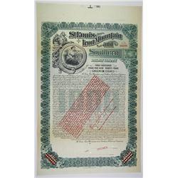 St. Louis, Iron Mountain and Southern Railway Co. 1903 Specimen Bond