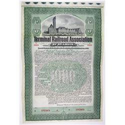 Terminal Railroad Association of St. Louis 1903 Specimen Bond