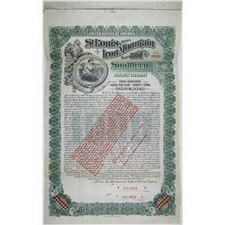 St. Louis, Iron Mountain and Southern Railway Co., 1903 Specimen Bond