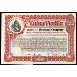 Union Pacific Railroad Co., 1897 Specimen $10,000 Bond.