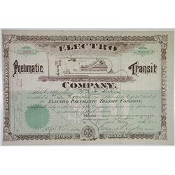 Electro Pneumatic Transit Co. 1900 I/U Stock Certificate