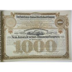 New Jersey Junction Railroad Co. 1886 I/U Bond with J.P. Morgan Signature