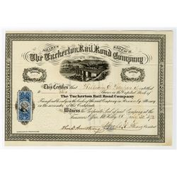 Tuckerton Rail Road Co. 1872 I/U Stock Certificate