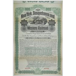 New York, Susquehanna and Western Railroad Co. 1893 Specimen Bond Rarity