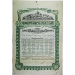 Broadway and Seventh Ave Railroad Co., 1893 Specimen Bond