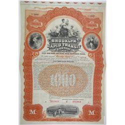 Brooklyn Rapid Transit Co., 1895 Specimen Bond