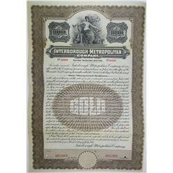 Interborough-Metropolitan Co., 1910 Specimen Bond