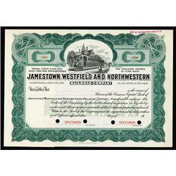 Jamestown, Westfield and Northwestern Railroad Co. Stock.