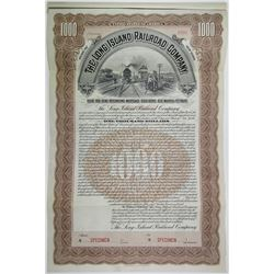 Long Island Railroad Co., 1893 Specimen Bond