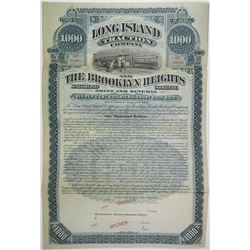 Long Island Traction Co. and The Brooklyn Heights Railroad Co., ND (1890-1900) Specimen Bond