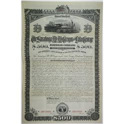 Saratoga, Mt. McGregor and Lake George Railroad Co., 1882 Unique Specimen Bond Rarity.
