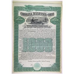 Carolina, Tennessee & Ohio Railroad Co., 1896 Specimen Bond