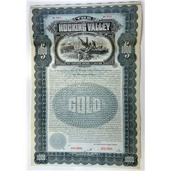 Hocking Valley Railway Co. 1899 Specimen Bond.
