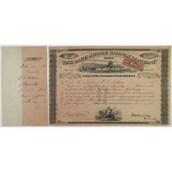 Lake Shore Railway Co., 1868 I/C Stock Certificate Signed by John Henry Devereux as President.