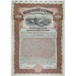 Toledo Railway & Terminal Co. 1904 Specimen Bond