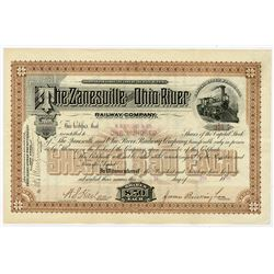 Zanesville & Ohio River Railway Co., 1888, Issued Stock.