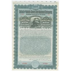 Detroit and Toledo Shore Line Railroad Co. 1903 Specimen Bond