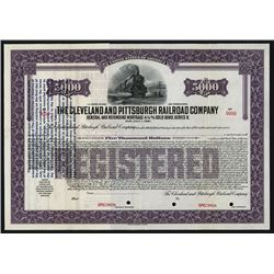 Cleveland and Pittsburgh Railroad Co., Specimen Stock. Pennsylvania and Ohio. 19xx (ca.1933-40). $5,