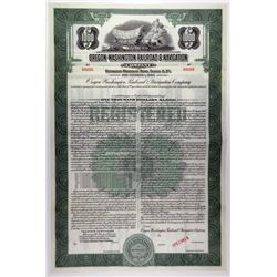 Oregon-Washington Railroad & Navigation Co., 1940s Specimen Bond Rarity