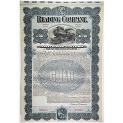 Reading Co., 1901 Specimen Bond Rarity