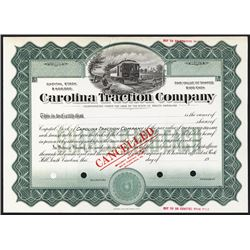 Carolina Traction Co. 1900-20 Specimen Stock.