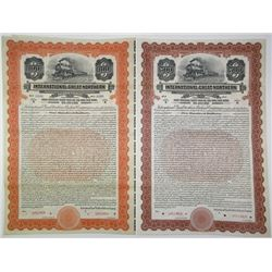 International-Great Northern Railroad Co. 1922 Bond Pair Rarity