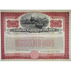 Carolina, Clinchfield and Ohio Railway 1908 Specimen Bond