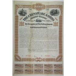 Chesapeake & Ohio Railway Co. 1882 Specimen Bond Rarity