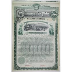 Chesapeake and Ohio Railway Co. 1889 Specimen Bond