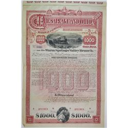 Chesapeake and Ohio Railway Co. 1890 Specimen Bond