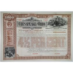 Chesapeake and Ohio Railway Co. 1892 Specimen Bond