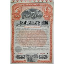 Chesapeake and Ohio Railway Co., 1892 Specimen Bond