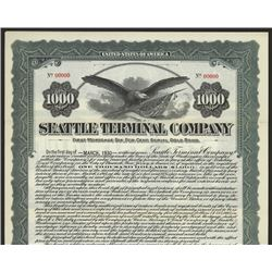 Seattle Terminal Co., 1915 Specimen Bond.