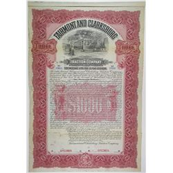 Fairmont & Clarksburg Traction Co., 1903 Specimen Bond Rarity.
