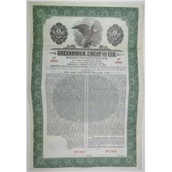 Greenbrier, Cheat and Elk Railroad Co. 1941 Specimen Bond