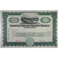 Improved Property Holding Co. 1906 of New York Specimen Stock Certificate
