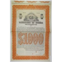 Territory of Hawaii 1924 Specimen Bond