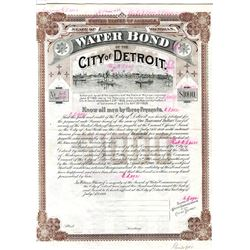 Water Bond of the City of Detroit, 1909 Specimen Bond.