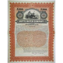 Butte Water Co., 1901 Specimen Bond