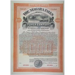Niagara Falls Power Co. 1904 Specimen Bond