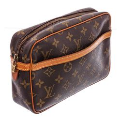 Louis Vuitton Monogram Canvas Leather Pochette Compiegne 23 Bag